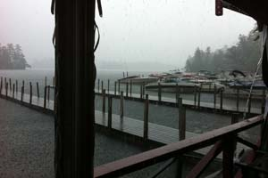 Even in stormy weather, Lake George reigns – photo by Amy Pengra
