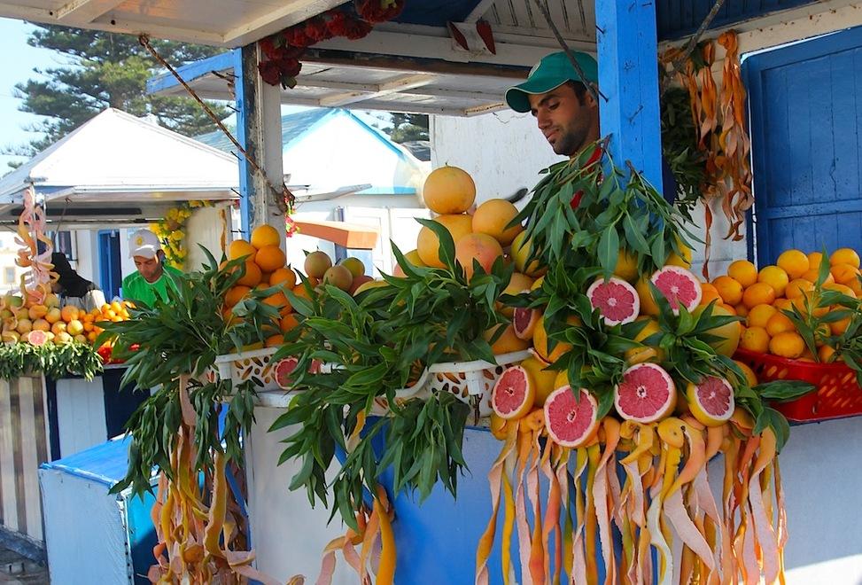 juice seller in Essaouira