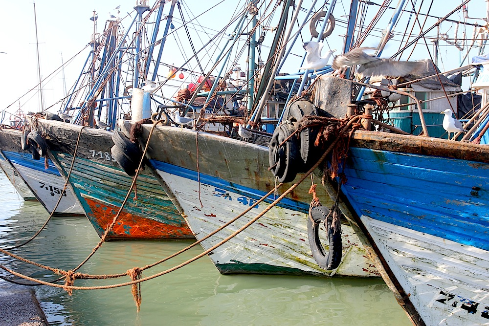 fishing boats in Essaouira photo by Bobby Christian