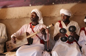 Gnawa musicians on a desert tour from Marrakech
