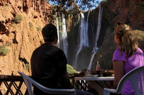Lunch overlooking the waterfall