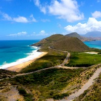 St. Kitts view of the Atlantic and Caribbean