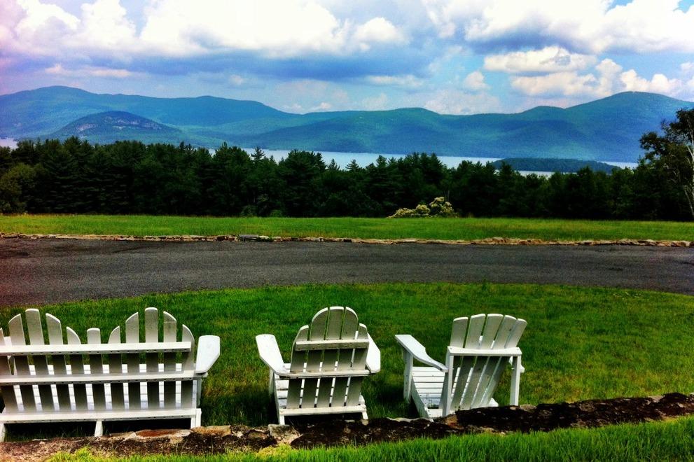 Relaxation, Adirondack style – photo by Amy Pengra