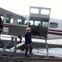 Ready to board the floatplane, photo by Helena Katz.