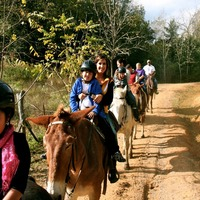 Kids will love the seven-mile horseback ride. Photo credit to Lindsay Ferrer