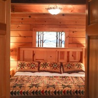 Cabin Bedroom. Photo by Broderick Smylie